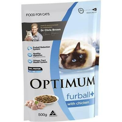 Optimum Adult Cat Food Furball With Real Chicken