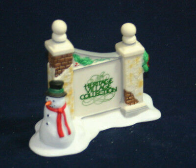 The Heritage Collection Department 56 Village Sign with Snowman