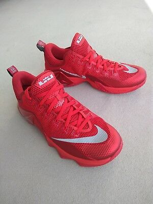 8b9d6501f83 top quality nike lebron 12 low red all over basketball shoes size 9.5  724557 616 e910b