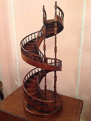 A Mahogany Architect's Model Of A Spiral Staircase