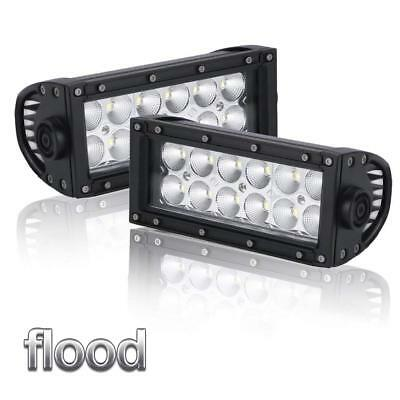 36W LED Light Bar Backup Reverse Work  Offroad SUV Truck Pods Flood Fog Lights