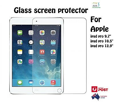 """2 x Real 9H Tempered Glass Screen Protector For Apple Ipad pro 10.5"""" 12.9"""" Inch"""