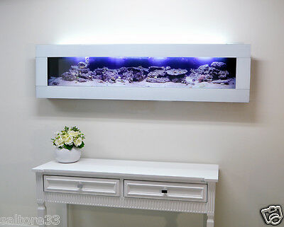 Decorative Framed Fish Tank Wall Mounted Aquarium Slim Panoramic Wall Aquarium