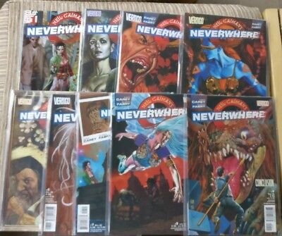 NEIL GAIMAN NEVERWHERE DC Vertigo 1 2 3 4 5 6 7 8 9 Full set Carey Glen Fabry