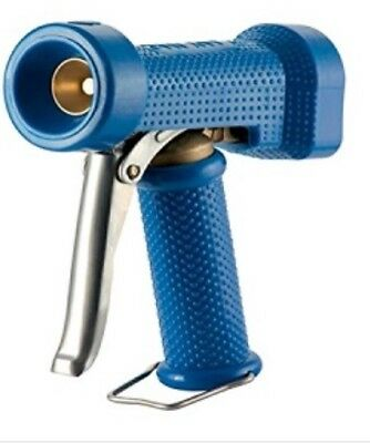 "Blue Heavy Duty Brass Wash Down Dinga Gun With Lock 1/2"" Bsp Inlet"