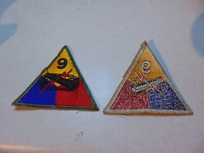 Military Patch Sew On Us Army 9Th Armored Division Colored Older Ww2 Era