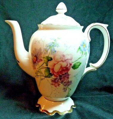 Crown Staffordshire Bone China ENGLAND'S GLORY Coffee Pot