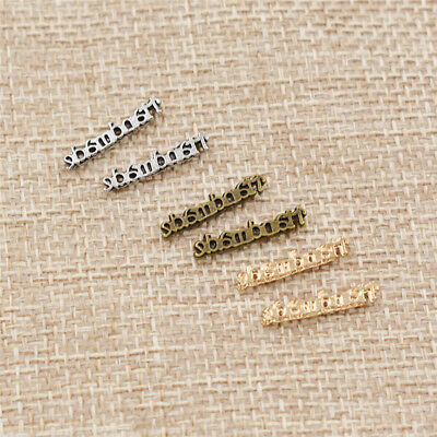 100x Alloy Metal Label Tag for Handmade Goods DIY Sewing Accessories Decor Craft