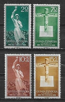 Spanish Guinea , Spain , 1958 , Catholic Missions ,  Set Of 4 , Perf , Mnh