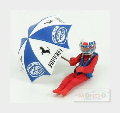 Figures Didier Pironi For Ferrari 126C2 F1 With Umbrella Red BRUMM 1:43 CH02U