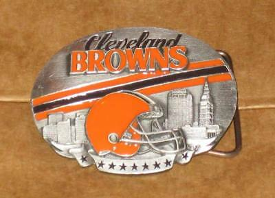Official Team NFL CLEVELAND BROWNS Ltd Edition PEWTER Logo BELT BUCKLE Small