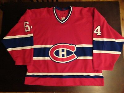 251162761 Montreal Canadiens RBK GAME WORN jersey with fight strap size 58