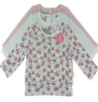 Baby Girls Toddler Ex Major Store 3 Pack T-Shirts Long Sleeve Tops
