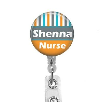 Personalized RN LVN LPN Nurse Badge Reel with Pink and Green Floral Spread 653M