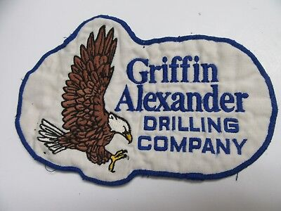 Griffin Alexander Drilling Company Eagle Patch Oil Large 6x8