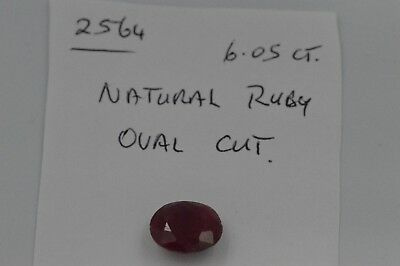 Natural Ruby Oval Cut 6.05ct