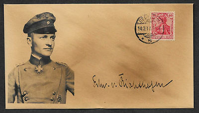 The Red Baron collector envelope w original period stamp 100 years old *OP1138