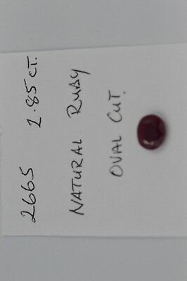 Natural ruby Oval Cut 2.85ct
