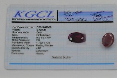 Natural Ruby Oval Cut 3.40ct with Certificate