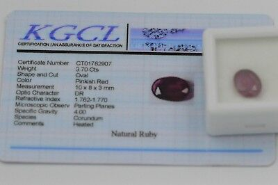 Natural Ruby Oval Cut 3.7ct with Certificate
