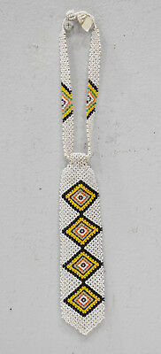 """African Zulu Beaded Charm Tie Fetish Necklace South Africa 13.5"""""""