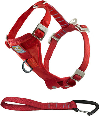 Kurgo Red Dog Harness Tru Fit with Seat Belt Attachment Quality Crash Tested