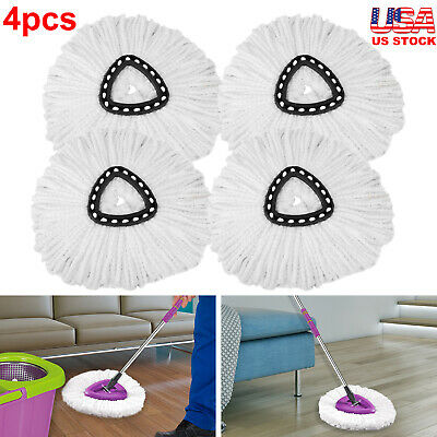 4Pcs Replacement Microfiber Mop Head Refill For Magic Mop 360° Spin Mophead