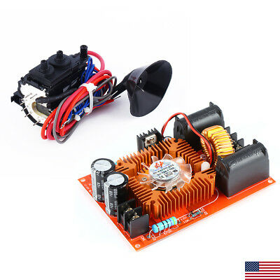 DC 15A-20A ZVS Tesla Coil High Voltage Generator Driver Board + Ignition Coil US