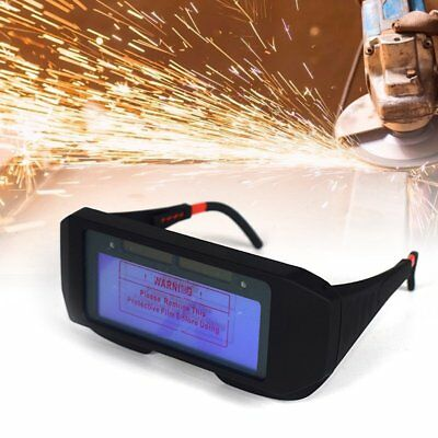 Solar Powered Arc Auto Darkening Welding Mask Helmet Eyes Goggle Welder Glasses