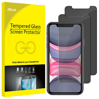 JETech Privacy Screen Protector for iPhone 11/XR Anti Spy Tempered Glass 2-Pack