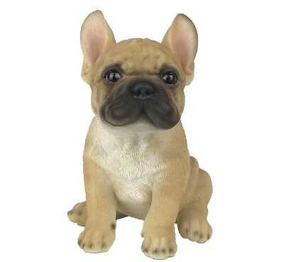 "French Bulldog Puppy Dog - Collectible Statue Life Size 6""H New"