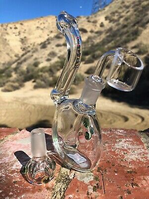 "8"" Hookah Water Pipe W/ Ice Catcher Thick Glass Bong Tobacco + FREE 4"" Hand Pipe"