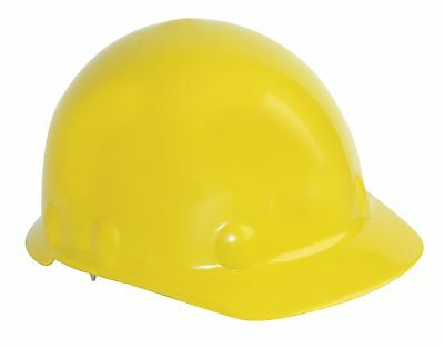 Front Brim Hard Hat, 8 pt. Ratchet Suspension, Yellow, Hat Size: 6-5/8 to 7-3/4
