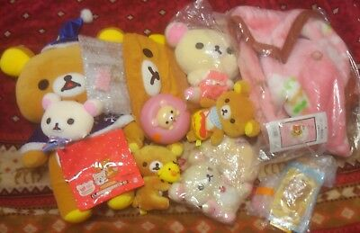 Rilakkuma Bear Blanket Plush small toys pencils donuts  Lot san-x