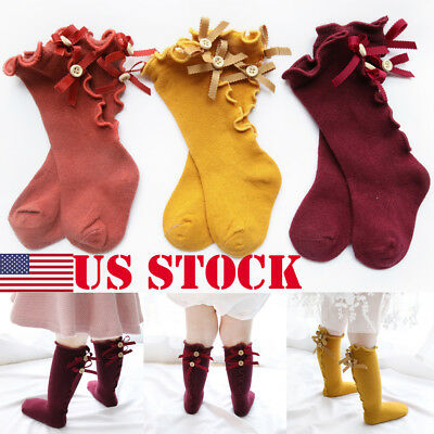 Newborn Baby Toddler Knee High Cute Long Sock Boys Girls Leg Warmers Socks USA