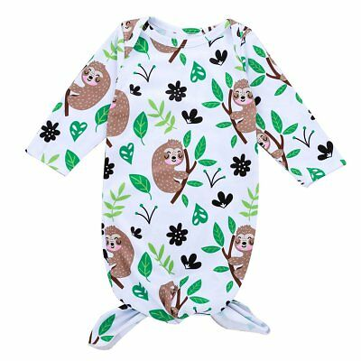Cute Baby Sleeping Bag Long Sleeve O-neck Long Bath Robe Night Gown Sleep Sack