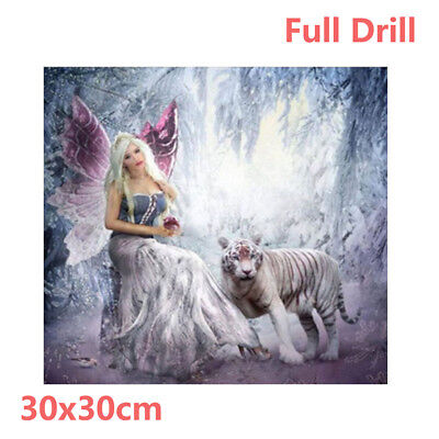 Full Drill Elf Queen Tiger 5D Diamond Painting Embroidery Cross Stitch Kit UK