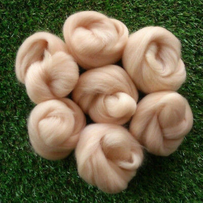 45g Apricot Colors Merino Fibre Wool Roving For Needle Felting Hand Spinning DIY