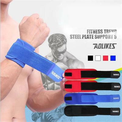 New Weight Lifting Wrist Wraps Bandage Hand Support Gym Straps Brace Cotton ED#