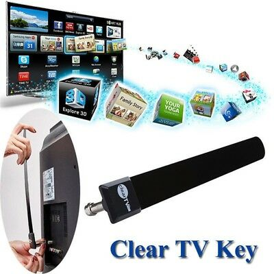 Portable Clear HD TV FREE Broadcast Network Shows Digital Antenna Indoor TV Keys