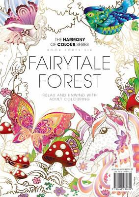 Harmony of Colour Book 46 Fairytale Forest Adult Colouring 36 Designs NEW