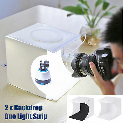 Mini Portable Photo Studio Lighting Box Photography Backdrop LED Light Room Cube