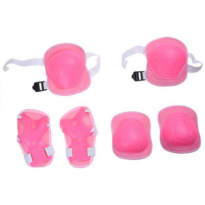 Kids Sports Knee Wrist Elbow Support Protector Pink D2Q7