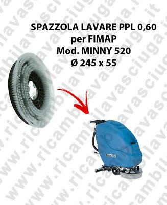 STANDARD BRUSH  for scrubber dryer FIMAP model MINNY 520 ⌀ 245 x 55 PPL 0,60