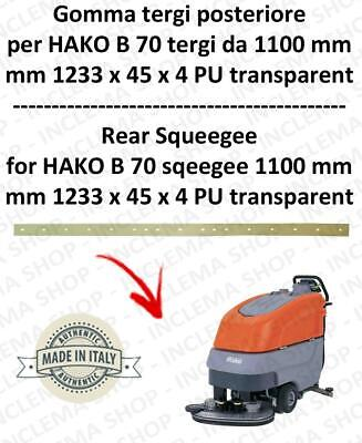 B 70 ( squeegee lenght1100 mm) squeegee rubber back for scrubber dryer  HAKO