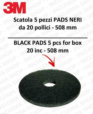PAD 3M 5 pieces color Black from 20 inch  508 mm scrubber dryer e single disc