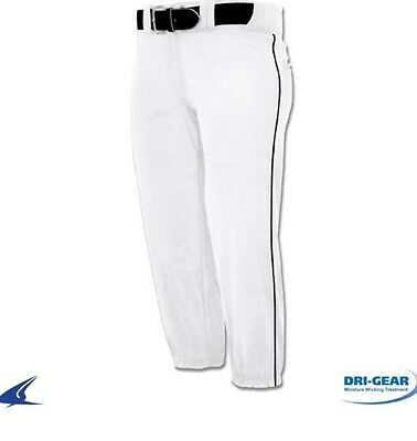 Champro Bp71 Performance Softball Large White Pants With Black Piping Bp71