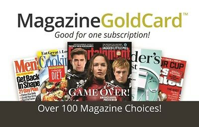 Magazine Subscription (over 100 magazines to choose from)
