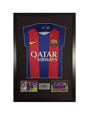 """Frame Display Kit For Sport Shirt Football *FREE PERSONALISED METAL PLAQUE """"ctl"""