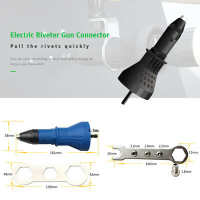 Rivet Drill Adapter Electric Riveter Gun Connector Head Hand Riveter Conversion